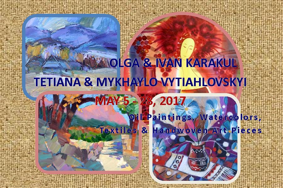 Art Exhibit by Olga & Ivan Karakul & Tetiana & Mykhaylo Vytiahlovskyi