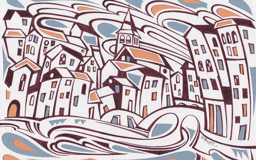 Land of Hope: Silk Painting by Oleh Chuyko