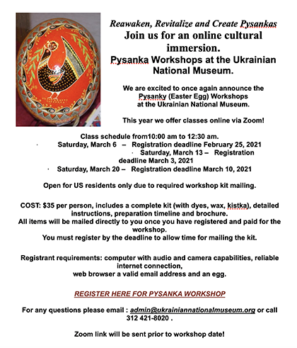 Pysanka Workshop 2021 – Updated New Classes